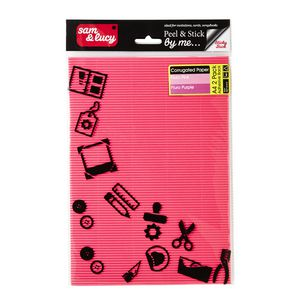 Sam and Lucy Corrugated Paper Assorted Fluro 2 Pack