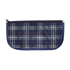 Studymate Medium Pencil Case Blue Tartan