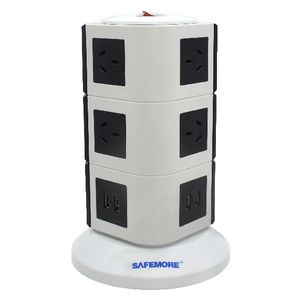 Safemore 10 Outlet Powerboard with 4 USB Ports