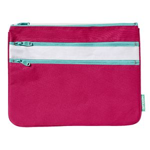 Smash Triple Zip Ripstop Pencil Case Large Pink