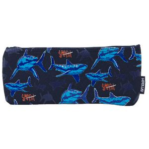 Smash Single Zip Neoprene Pencil Case Medium Sharks