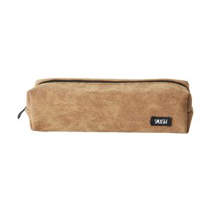 Smash Single Zip Tube Pencil Case Matte Leatherette