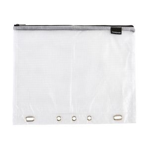 Studymate Single Zip Mesh Pencil Case 330 x 260mm White