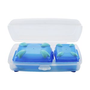 Nude Food Movers Slim Lunchy 3 Piece Pack Clear/Blue/Teal