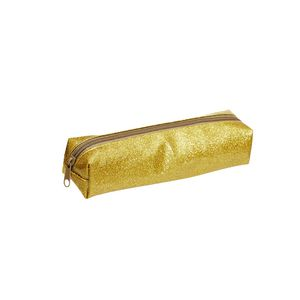 Otto Glitter Tube Pencil Case Gold