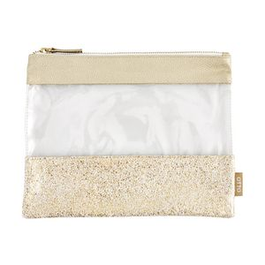 Otto Single Zip Pencil Case Medium Gold
