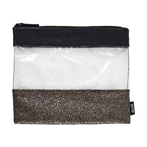 Otto Single Zip Pencil Case Medium Black