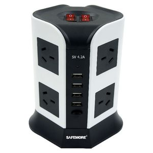 Safemore 8 Outlet Powerboard with 4 USB Ports