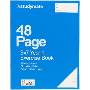 Studymate Premium 9 x 7 Exercise Book QLD Year 1