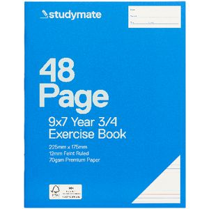 Studymate Premium 9 x 7 Exercise Book QLD Year 3