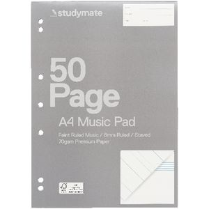 Studymate Premium A4 Music Writing Pad