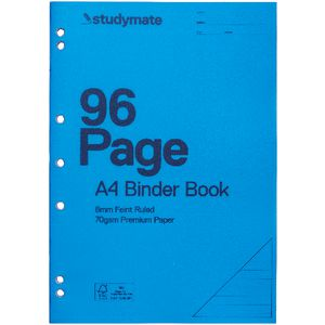 Studymate A4 Binder Book 96 Page Blue