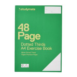 Studymate A4 18mm Dotted Thirds Exercise Book 48 Page