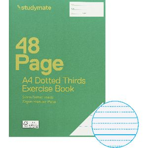 Studymate Premium A4 Dotted Thirds Exercise Book 24mm 48 Page