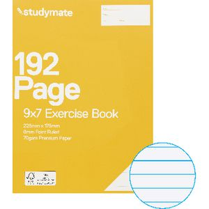 "Studymate 9 x 7"" Exercise Book 192 Page"