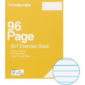 Studymate Premium 9x7 Exercise Book 96 Page