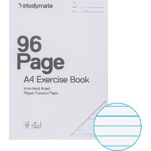 Studymate Premium Clear PP Covered A4 Exercise Book