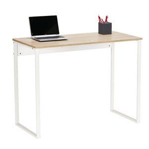 Floyd Loop Leg Desk 1000mm White/Oak