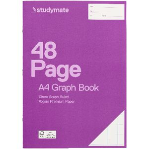 Studymate A4 Premium Graph Book - 10mm - 48 Page