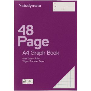 Studymate A4 Graph Book 5mm 48 Page