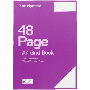 Studymate Premium A4 Grid Book 7mm 48 Page