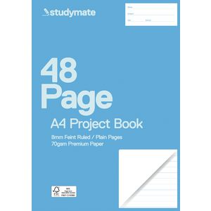 Studymate A4 Premium Project Book 8mm Dotted Thirds 48 Page
