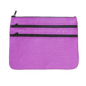 Studymate Triple Zip Pencil Case Large Purple