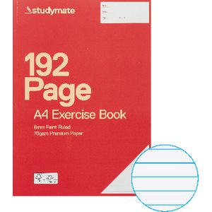 Studymate Premium A4 Exercise Book 192 Page