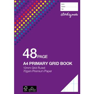 Studymate Premium Primary Grid Book 10mm 48 Page