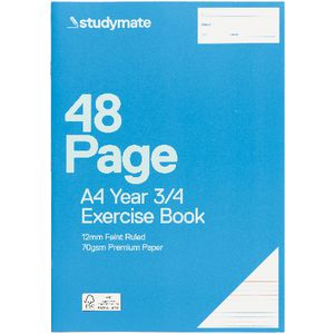 Studymate A4 Premium Exercise Book Year 3 and 4 48 Page