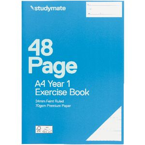 Studymate A4 Premium Exercise Book Year 1 Ruled 48 Page