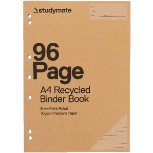Studymate Premium A4 Recycled Binder Book