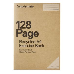 Studymate Premium A4 Recycled Exercise Book 128 Page