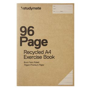 Studymate Premium A4 Recycled Exercise Book 96 Page