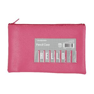 Studymate Single Zip Name Pencil Case Small Pink