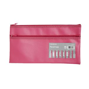 Studymate Twin Zip Name Pencil Case Large Pink