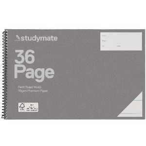 Studymate Premium Spiral Music Book 36 Page