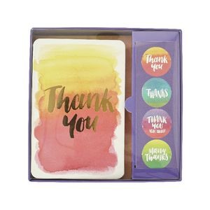 Studio Oh! Foiled Watercolour Notecard Set