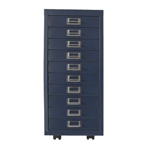 Spencer 10 Drawer Cabinet Metallic Blue