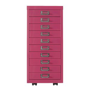 Spencer 10 Drawer Cabinet Pink