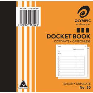 Olympic No.50 Carbonless Duplicate Docket Book