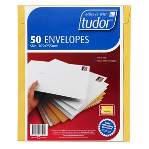 Tudor 305 x 225mm Kraft Envelopes 50 Pack