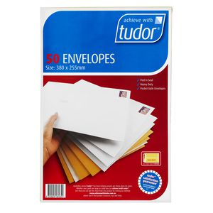 Tudor 380 x 255mm Kraft Envelopes 50 Pack