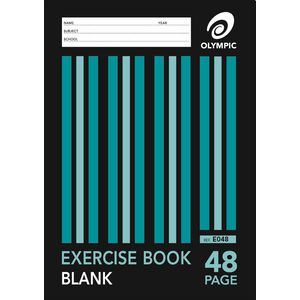 Olympic A4 Blank Exercise Book 48 Page