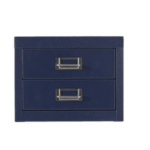 Spencer 2 Drawer Large Cabinet Blue