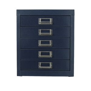 Spencer 5 Drawer Cabinet Navy Blue at Officeworks in Campbellfield, VIC | Tuggl