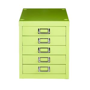 Spencer 5 Drawer Cabinet Green