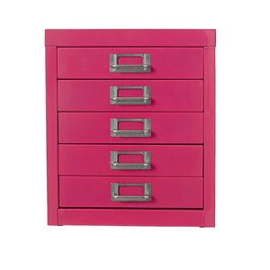 Spencer 5 Drawer Cabinet Pink