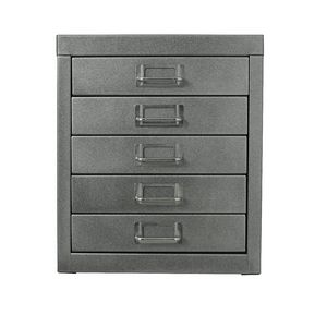 Spencer 5 Drawer Cabinet Silver