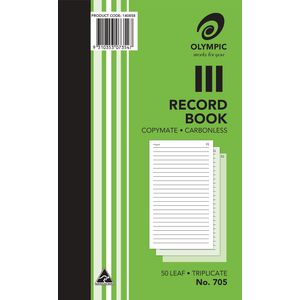 Olympic No.705 Carbonless Triplicate Record Book